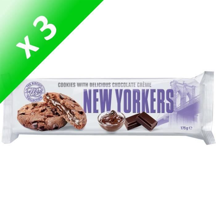 [LOT DE 3] NEW YORKERS Cookies Fourrés aux Noisettes - 175 g