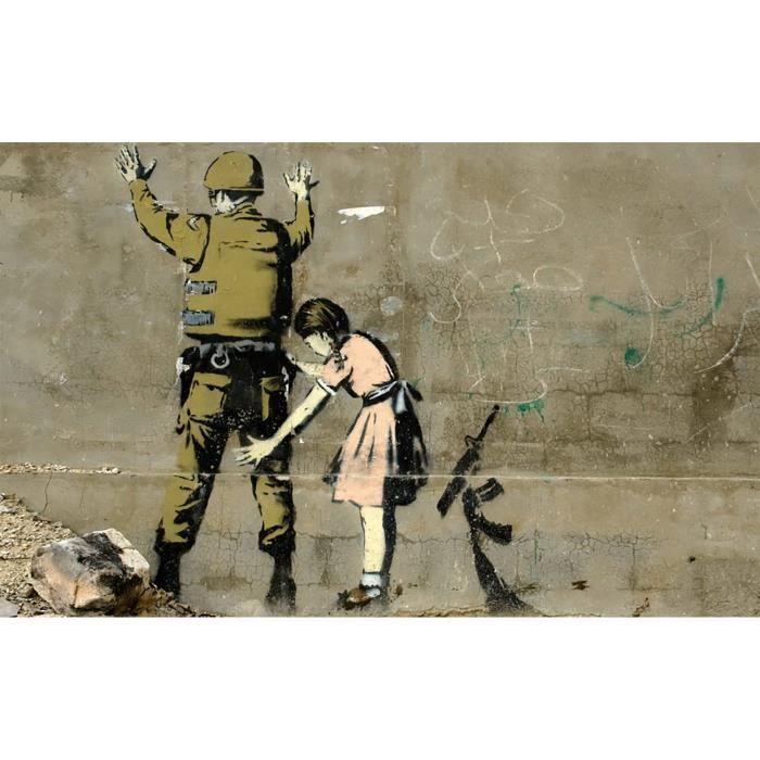 Poster Affiche Banksy Fillette Soldat Fouille Arme Graffiti Street Art 42cm x 67cm