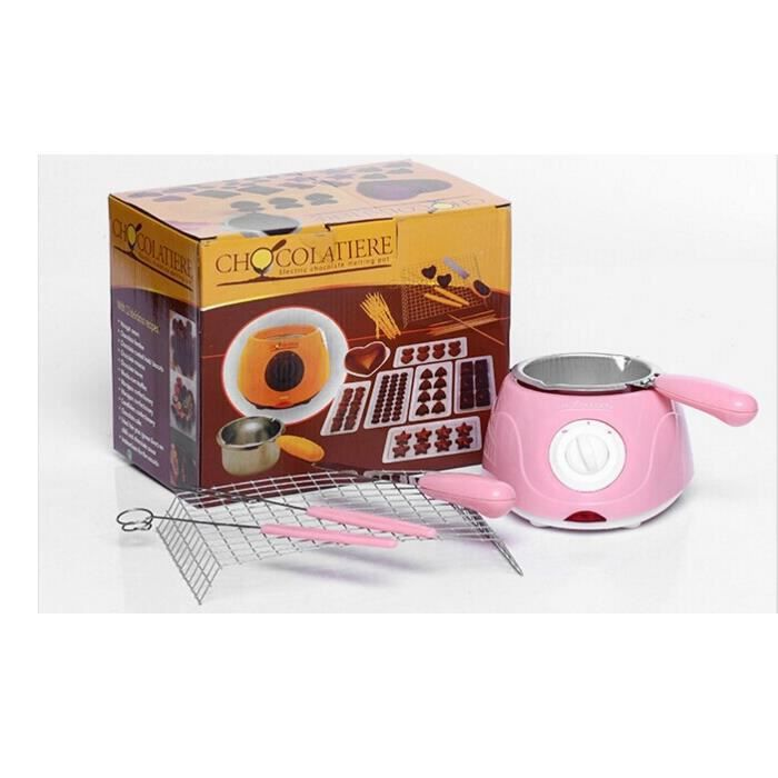 Vente chaude Électrique Fontaine de Chocolat Fondue Chanteur Chocolat Fondre Pot fondoir Machine Jaune et Rose
