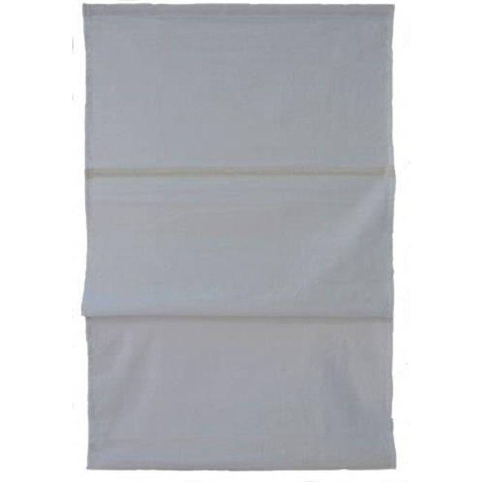 Store Bateau Uni 100% Coton Gris 80 x 150 cm