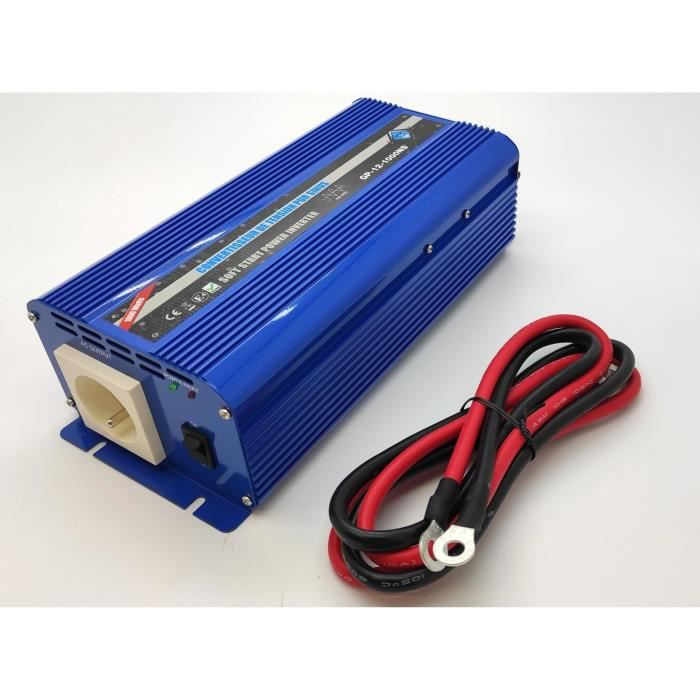 Convertisseur de tension 12/220V 1000W Pure Sinus