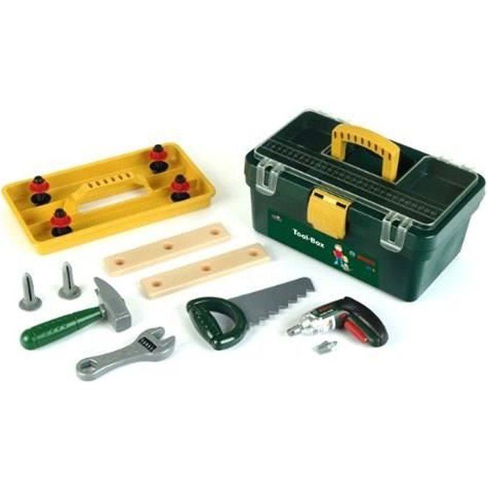 BOSCH - Jouet - Caisse à outils avec visseuse pour enfant