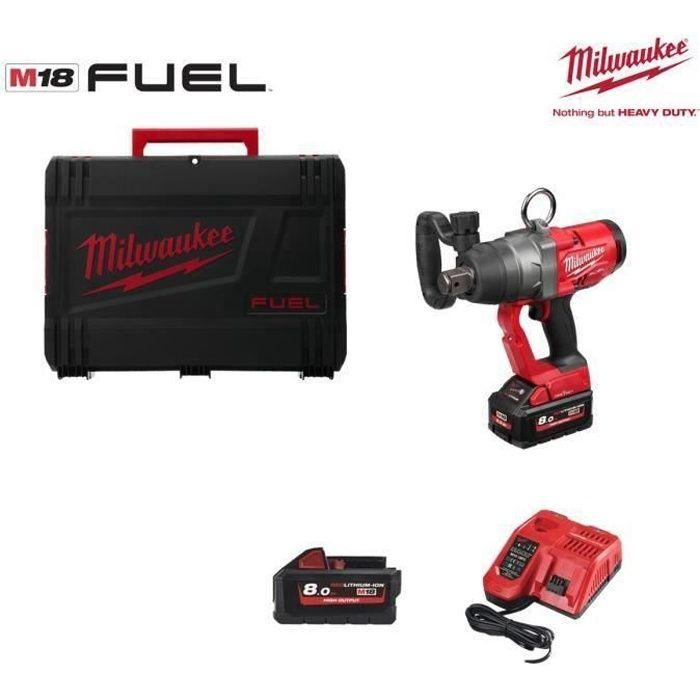 Boulonneuse à chocs MILWAUKEE M18 FUEL ONEFHIWF1-802X - 2 batteries 18V 8Ah - chargeur 4933459733