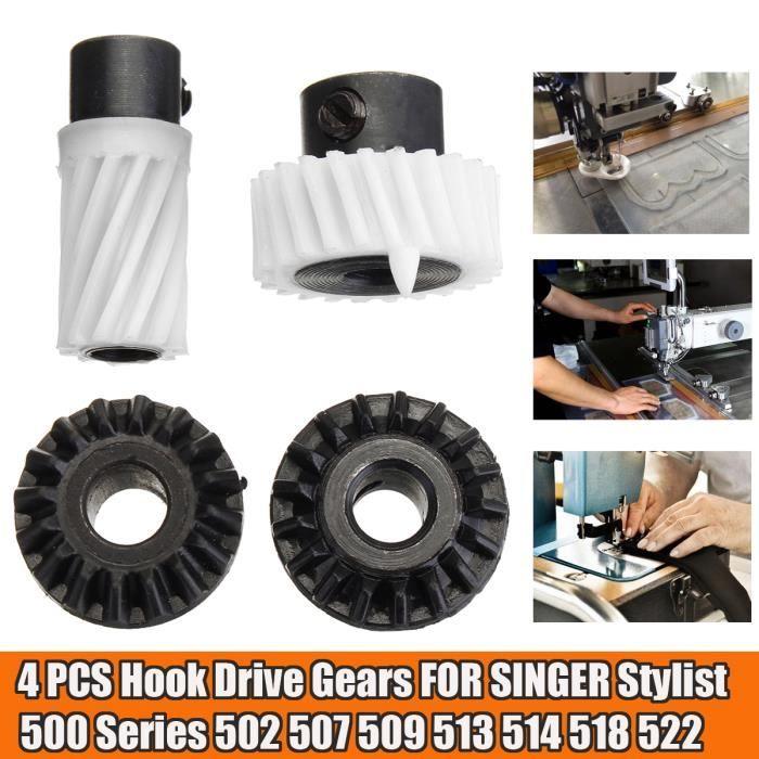 4PCS Machine à coudre Engrenage Pour SINGER Stylist 500 Series 502 507 509 513 514 518 522