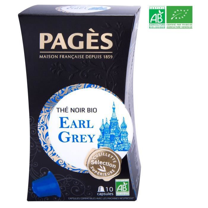 PAGES Thé Noir Earl Grey - Capsules - Bio