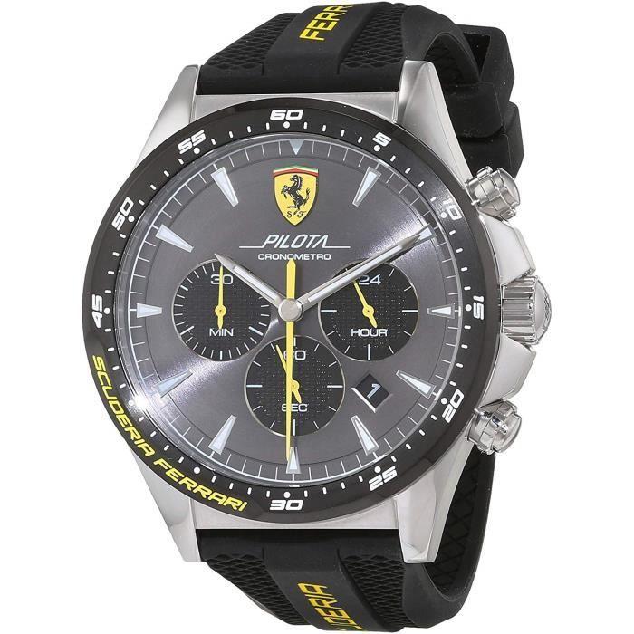 Scuderia Ferrari Hommes Chronographe Quartz Montres bracelet avec bracelet en Silicone - 830594 4790