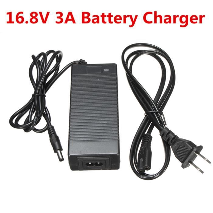 TEMPSA 16.8V 3A Chargeur adaptateur Pr 14.4V 14.8V Li-ion Li-Po Pack Batterie Lithium