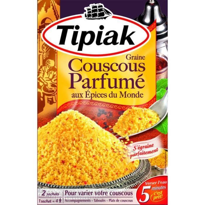 TIPIAK Couscous parfumé aux Epices du monde - 2 x 255 g