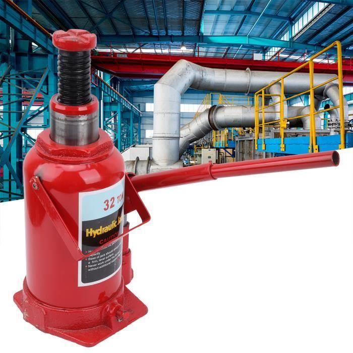 Cric-bouteille hydraulique de 32 tonnes soulevant l'outil de réparation de véhicule en acier de voiture de poussoir