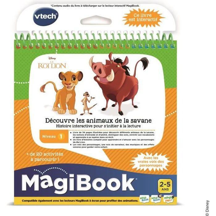 Vtech - Magibook - Le Roi Lion - Découvre les animaux de la savane