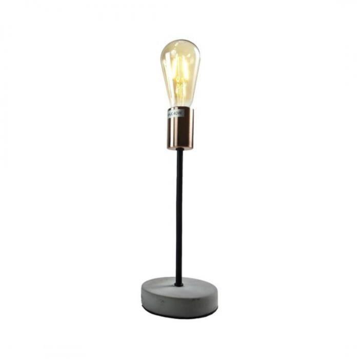 Lampe métal + Ampoule LED Copper