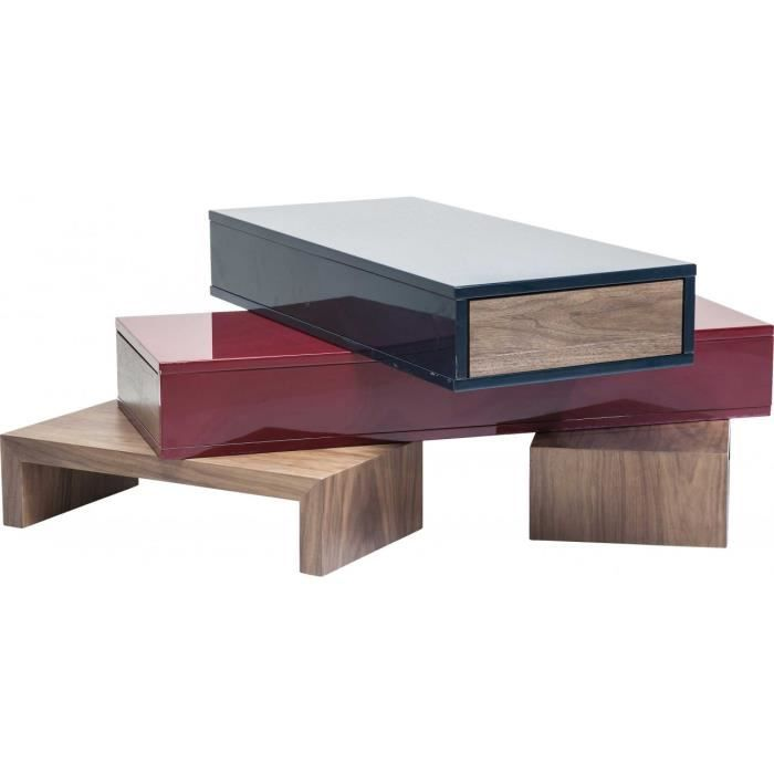 table basse micado colore 140x90 cm kare design achat vente table basse table basse micado. Black Bedroom Furniture Sets. Home Design Ideas