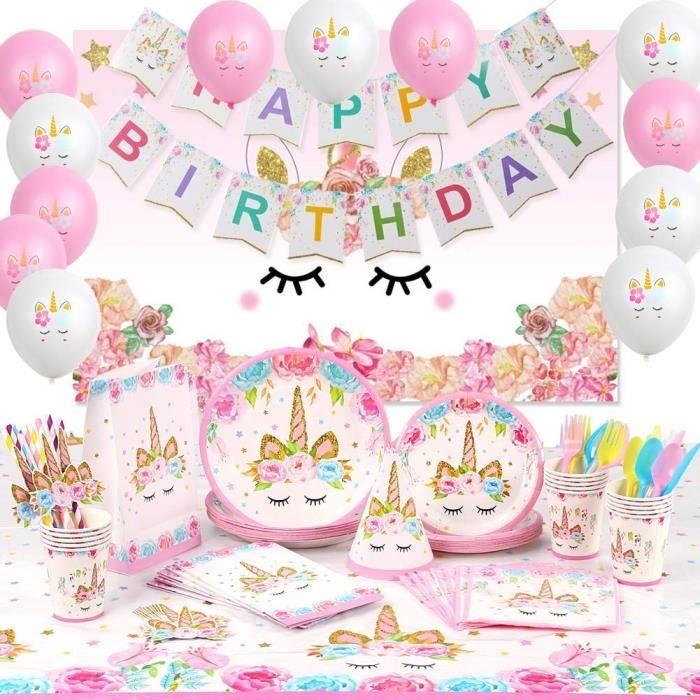 Personnalisé anniversaire Licorne Bunting Bannière Fête Décoration