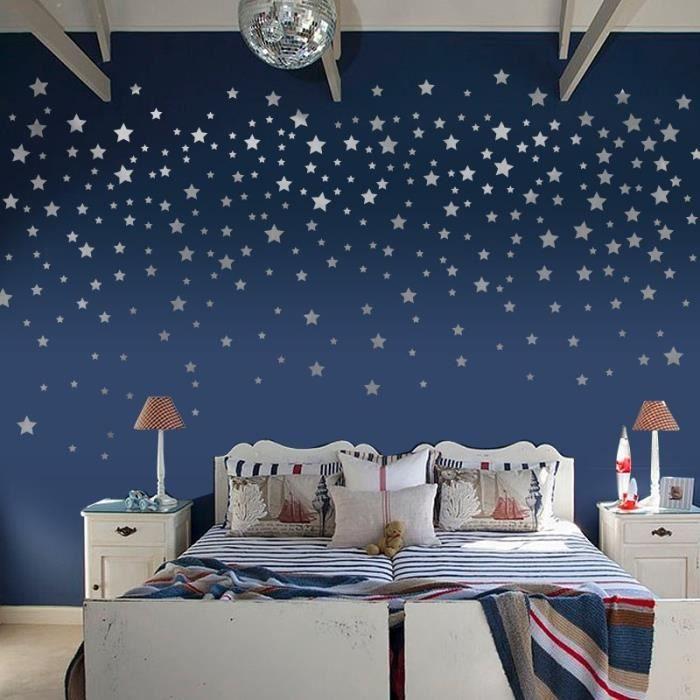 Lune et étoiles Porte Mural Auto-Adhésif Autocollants avec la norme européenne Taille