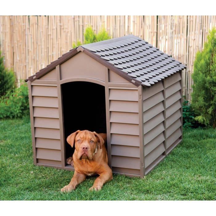 NICHE Niche L en plastique mocha  pour chien - 84,5 x 79