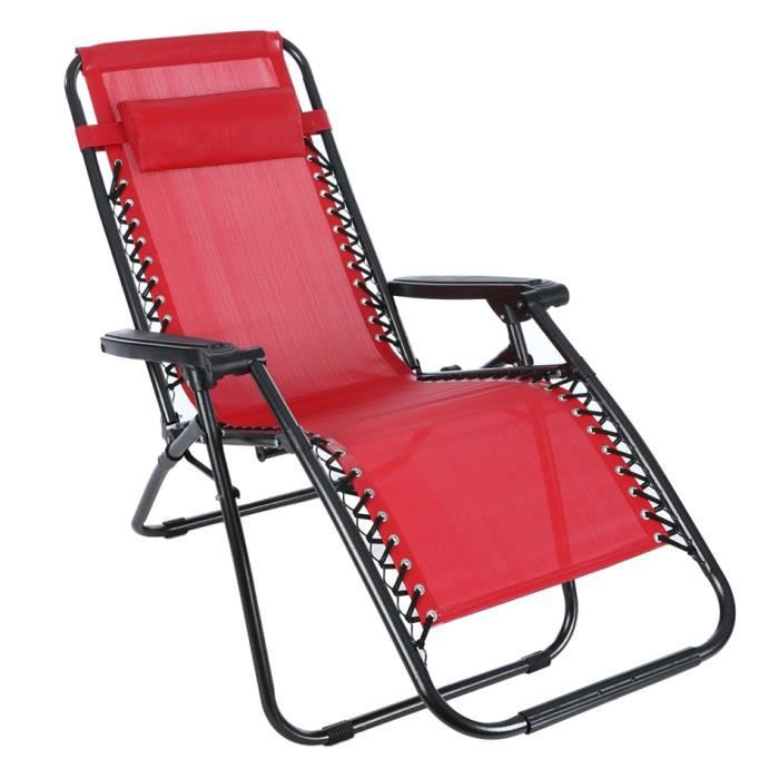 Chaise Portable Pliant Longue Salon Garden Beach Inclinable Camping v08nwmN