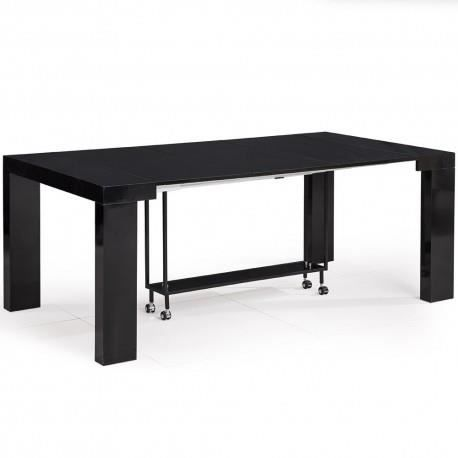 table console extensible tonga noir achat vente table basse table console extensible tong. Black Bedroom Furniture Sets. Home Design Ideas