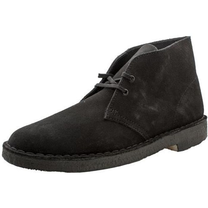desert boot homme clarks desert boot noir achat vente bottine cdiscount. Black Bedroom Furniture Sets. Home Design Ideas