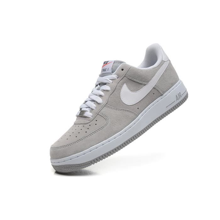 Baskets Air 1 Low GrisChaussures Gris Force Suede Homme Nike TJK3ul1cF