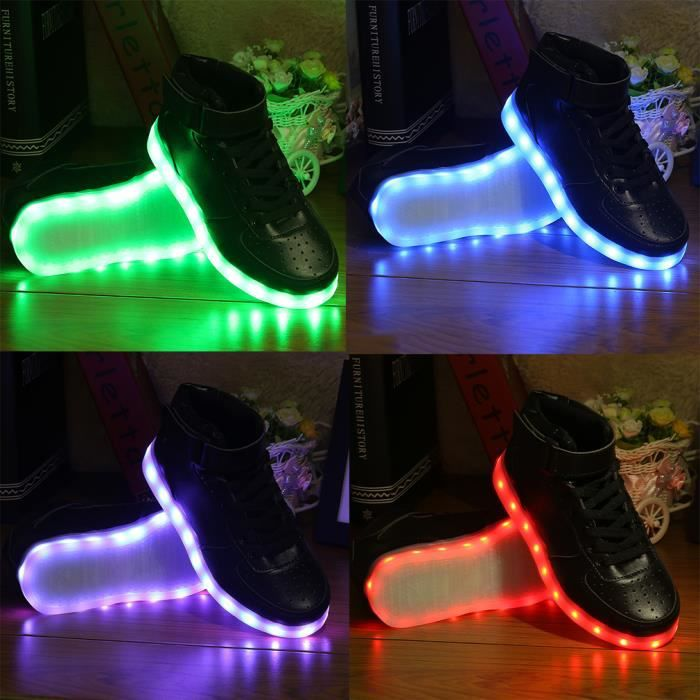 LED Chaussures Sneakers Unisex hommes femmes Light Flashing Luminous zmKgf9