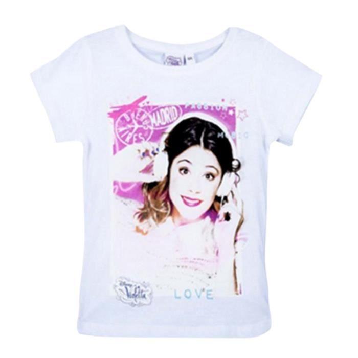 Ensemble De Vetements Npz Tee Shirt Manches Courtes Violetta Blanc Blanc Achat Vente T Shirt Cdiscount