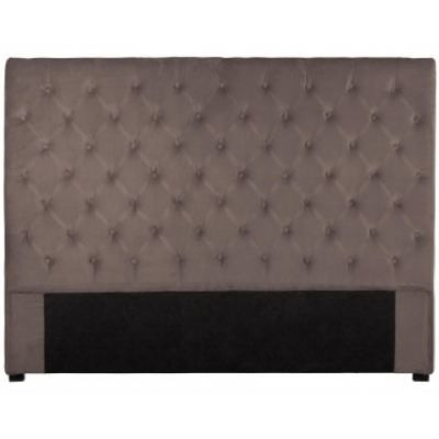 t te de lit capitonn e 160 cm velours taupe achat. Black Bedroom Furniture Sets. Home Design Ideas