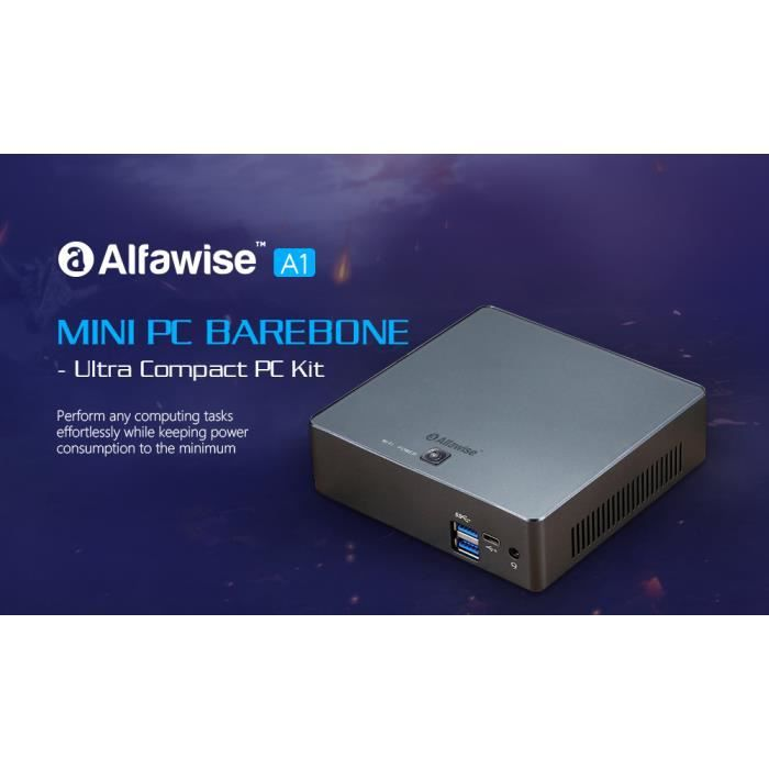 UNITÉ CENTRALE  Alfawise A1 Mini PC Intel Skylake Ubuntu 16.04 WiF