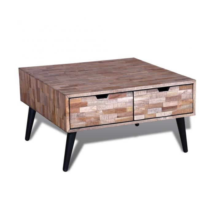 Superbe table basse avec 4 tiroirs en teck recycl neuf achat vente table - Table en teck occasion ...