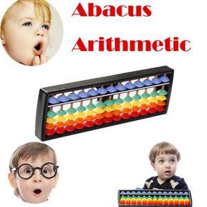 JEU D'APPRENTISSAGE Tiges colorées Perles plastique Abacus Arithmétiqu