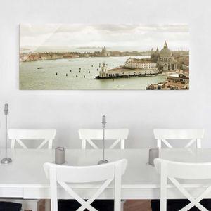 CADRE PHOTO 40x100 cm verre image - lagune de venise - croix p
