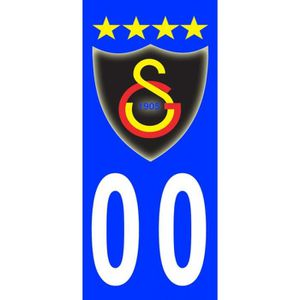 2X Stickers Plaques D/'immatriculation Auto Galatasaray FC T2 Fond Bleu