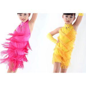 JUPE (jaune) Été fille danser jupe (160)