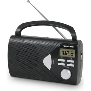 RADIO CD CASSETTE MET 477205 Radio portable Noire