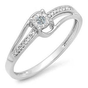 BAGUE - ANNEAU Bague Femme Diamants 0.10 ct 471-1000  18 ct 750-1