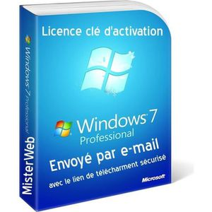 CLAVIER POUR TABLETTE Clé d'activation Licence Windows 7 Professionnel -