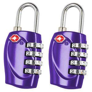 2 Cadenas BlueBeach® TSA Cadenas de sécurité à combinaison 4 chiffres,...