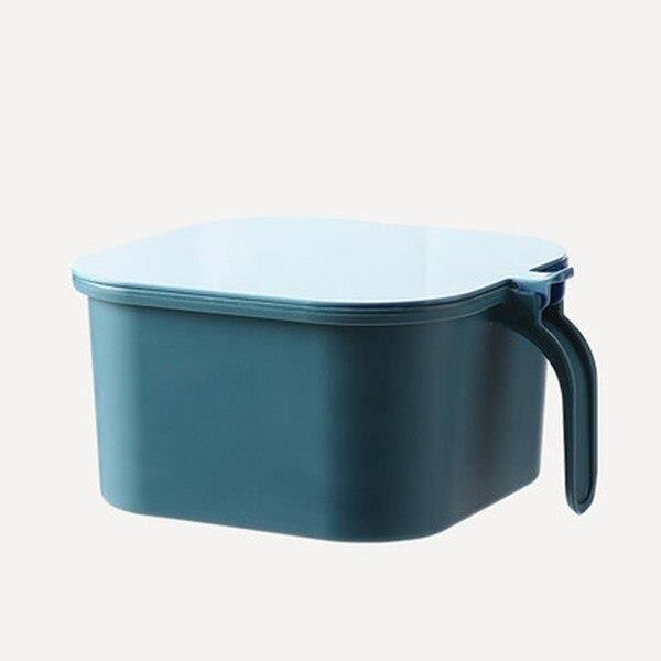 boîte de rangement des épices de cuisine à 4 grilles, avec cuillère, ensemble sel et poivre, récipient à épices, [7F85003]