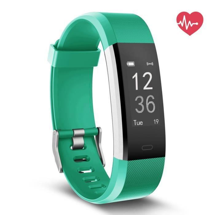 fitness tracker hr, montre tracker activité et moniteur de fréquence cardiaque, écran tactile étanche smart b JNXHE