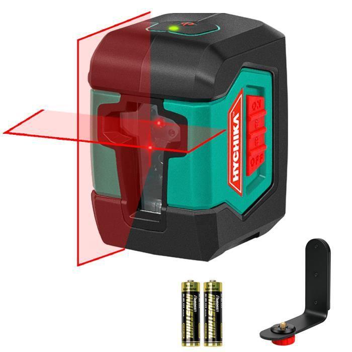 Niveau Laser, HYCHIKA 15M Autonivelant avec Deux Module Laser (Alternant Lignes Simples et Doubles), 360° Laser Rotatif avec Suppor