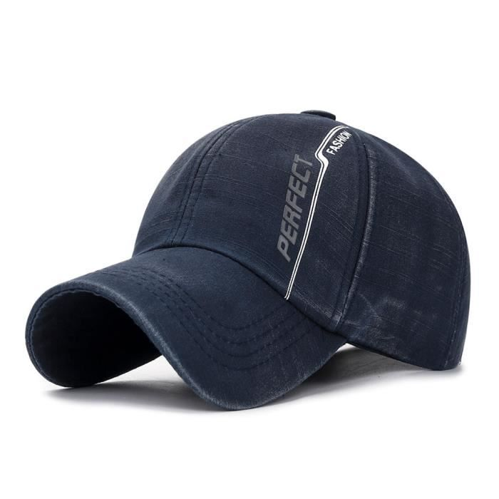 CASQUETTE Hommes Washed Cap Sport Hip-Hop Cotton Baseball Cap réglable Blank Hat solide ZLY90613784NY_666