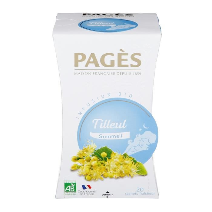 PAGES Infusion Tilleul Bio