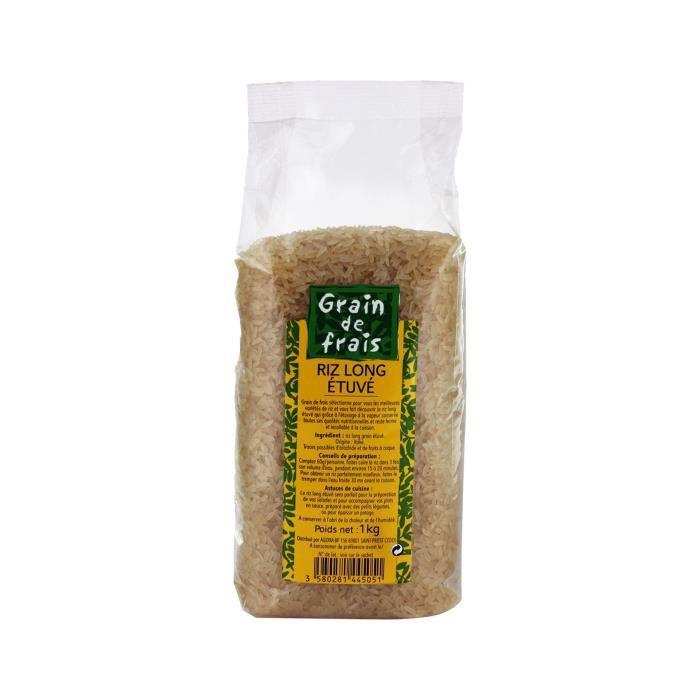 Riz long étuvé Grains de frais - 1 kg