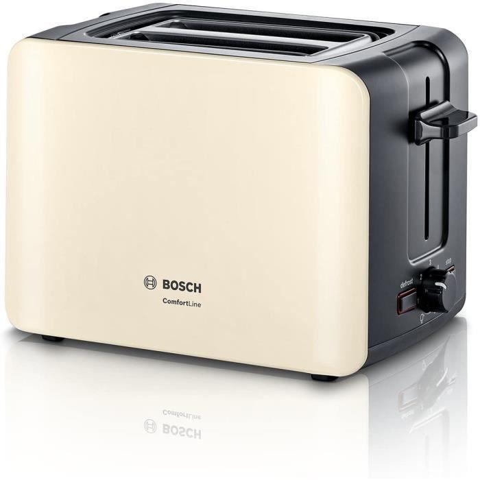 TOASTER Bosch TAT6A117 ComfortLine Grillepain 1090 W Noircregraveme226
