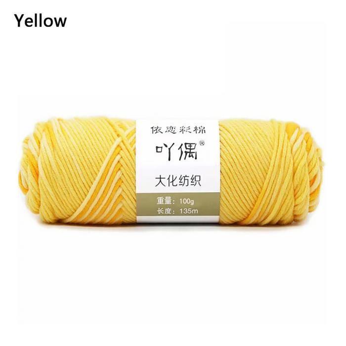 100g barre de fil de coton de lait couture main bricolage écharpe ligne ménage chaud FWT90902003YE_Leshaishu