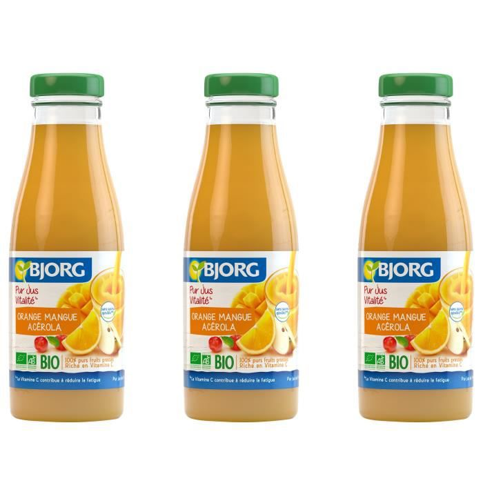 BJORG Jus Vitalité Orange Mangue - Bio - 75 cl