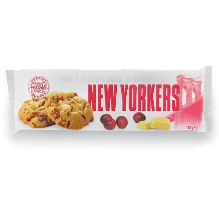 NEW YORKERS Cookies aux Pépites de Chocolat Blanc et Cranberry - 150 g