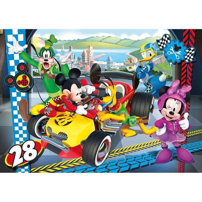 Clementoni puzzle Mickey Mouse voiture de course 15 pièces