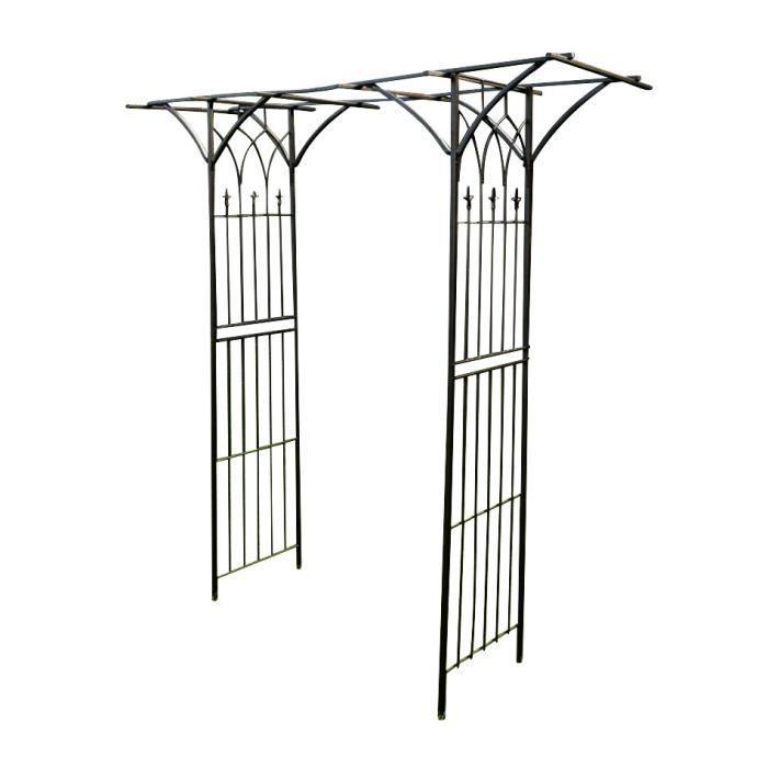 CLP Arceau à rosiers MILANO avec pavillon, en métal, revêtement par poudrage, largeur 110 cm, profondeur 52 cm, hauteur 235 cm235...