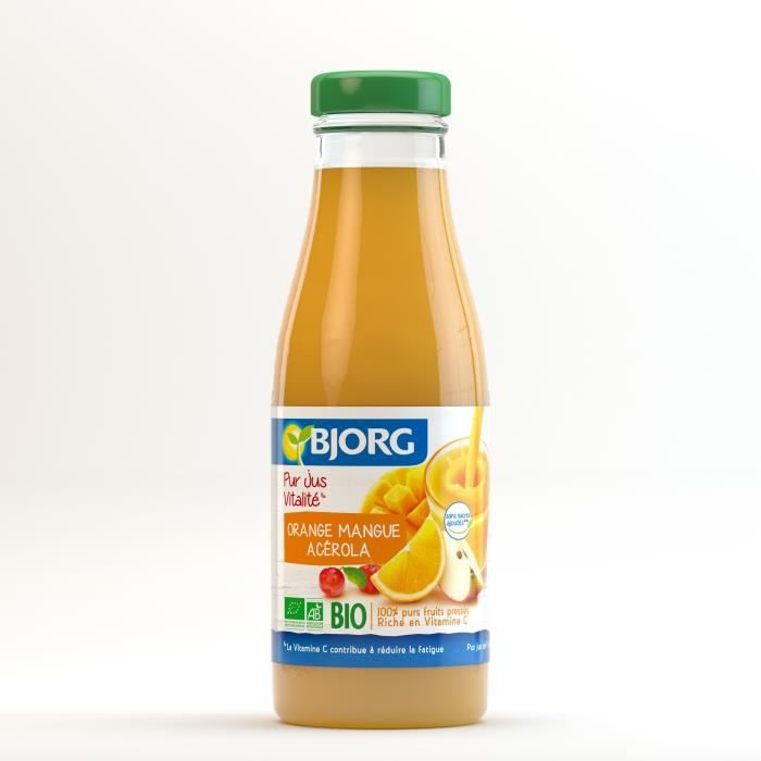 BJORG Jus Vitalité Orange Mangue Bio 75cl