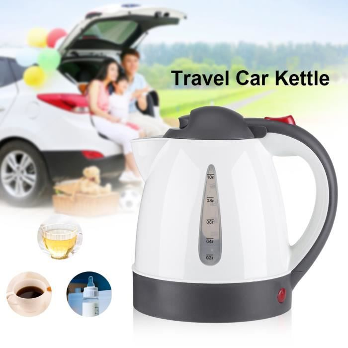 1000mL 12 V Portable voiture bouilloire allume-cigare prise chauffe-eau bouteille pour thé café voyage HB038 HY3 -ZOO